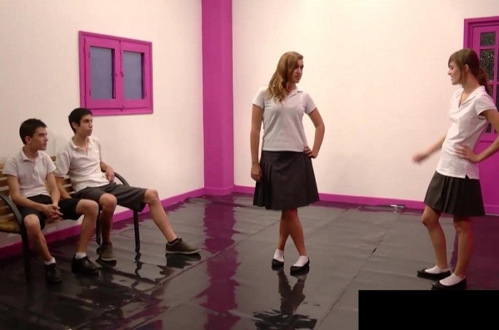 Ainara, Judith And Jordi Teen Try Group Sex HD 720p